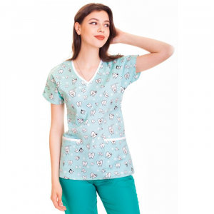 Bluza medicala fistic cu dintisori [0]