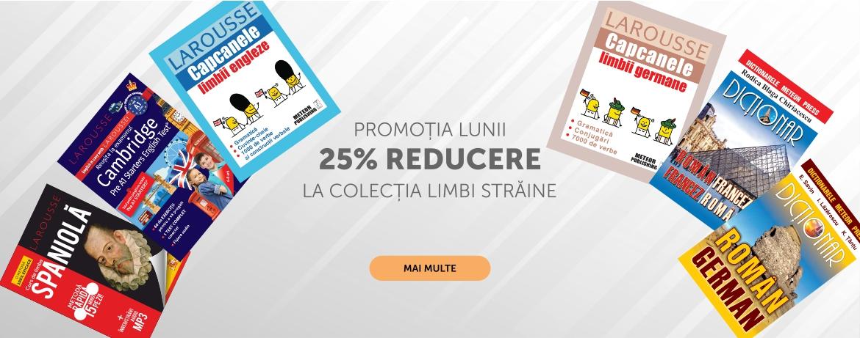 Promotia lunii - 25% reducere la colectia limbi straine