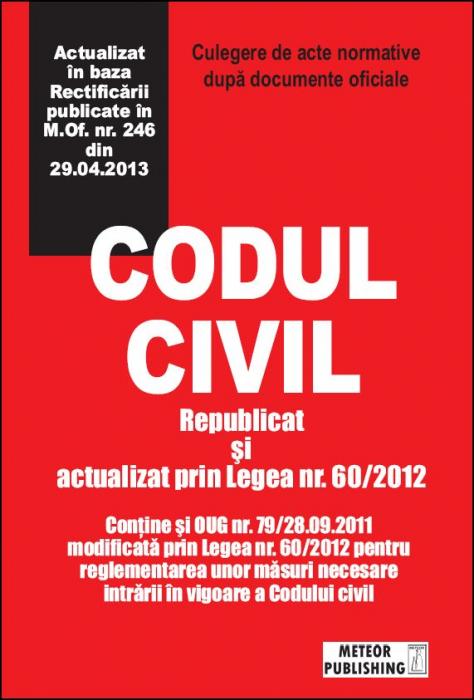 Codul civil actualizat [0]