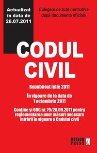 Codul civil - Republicat octombrie 2011 [0]