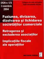 Fuziunea, divizarea, dizolvarea si lichidarea socitatilor comerciale [0]
