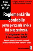 Reglementarile contabile pentru persoanele juridice fara scop patrimonial [0]