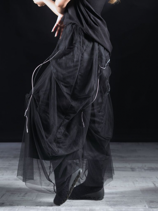 Fusta Tull Negru [4]