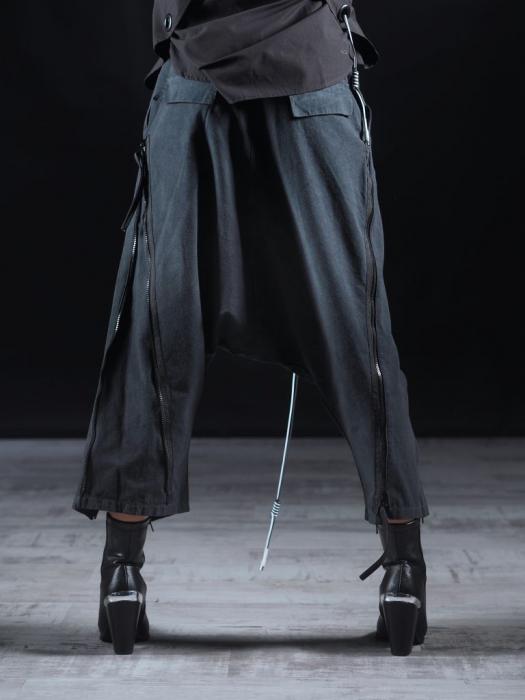 Pantalon Negru Cu Talie Inalta [2]