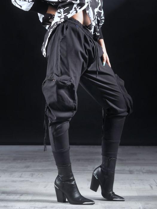 Pantalon Negru Umbrela [3]