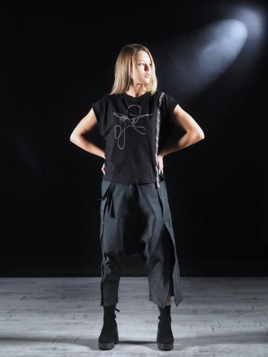 Tricou Negru Printat [1]
