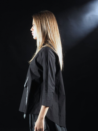 Bluza Neagra Cu Benzi [3]