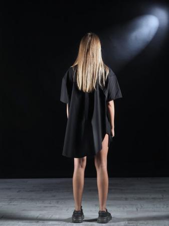 Bluza Neagra Super Dimensionata Accesorizata Cu Fermoare [1]