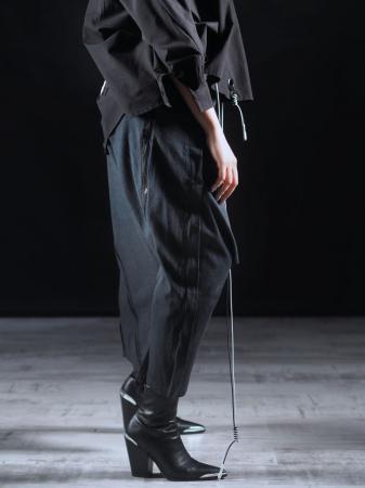 Pantalon Negru Cu Talie Inalta [5]