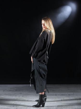 Pantalon Negru Cu Talie Inalta [6]