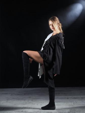 Rochie Tip Camasa Neagra Alba [2]