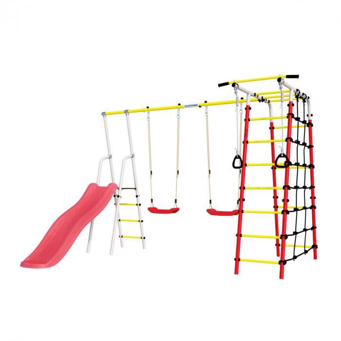 Loc de joaca ROMANA family fitness Plus cu leagan de plastic [0]
