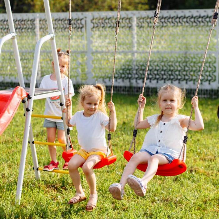 Loc de joaca ROMANA family fitness Plus cu leagan de plastic [1]