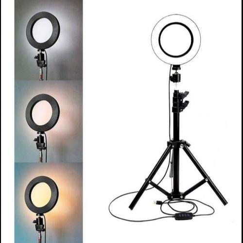 Lampa circulara cu suport selfie, 60W [1]