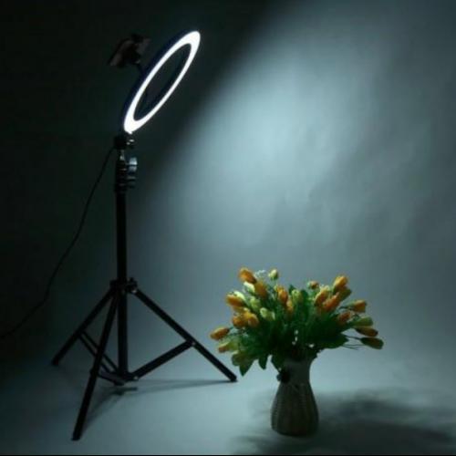 Lampa circulara cu suport selfie, 60W [2]