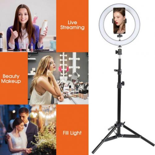 Lampa circulara cu suport selfie, 60W [3]