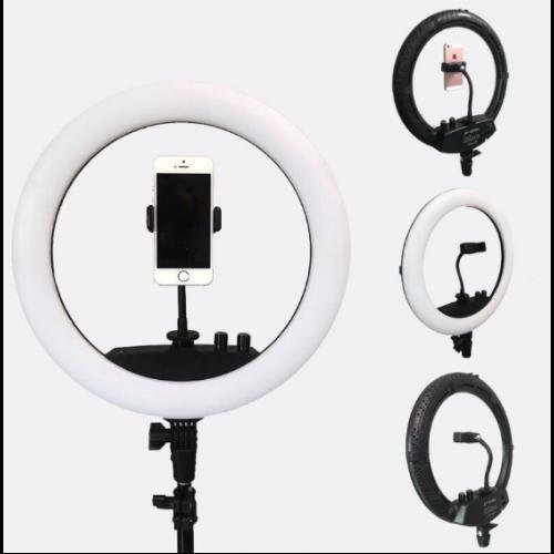 Lampa circulara cu suport selfie, 60W [5]
