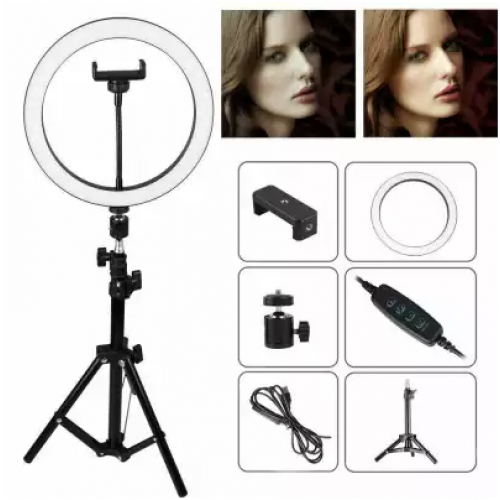 Lampa circulara cu suport selfie, 60W [6]
