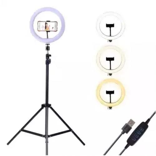 Lampa circulara cu suport selfie, 60W [7]