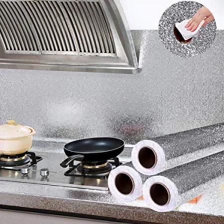 Folie de aluminiu autoadeziva bucatarie 60 x 300 cm [4]