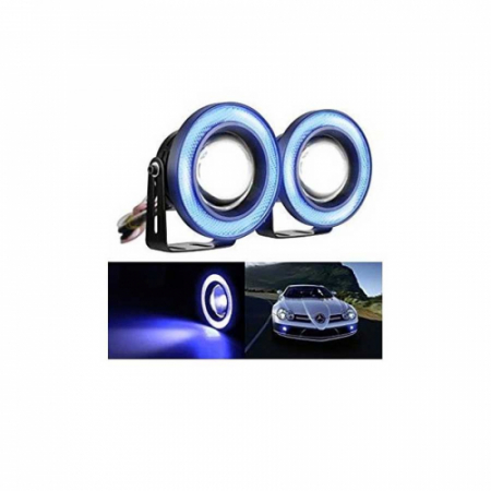 Set 2 proiectoare auto cu LED Angel Eyes, 76 mm, lumina alba [5]
