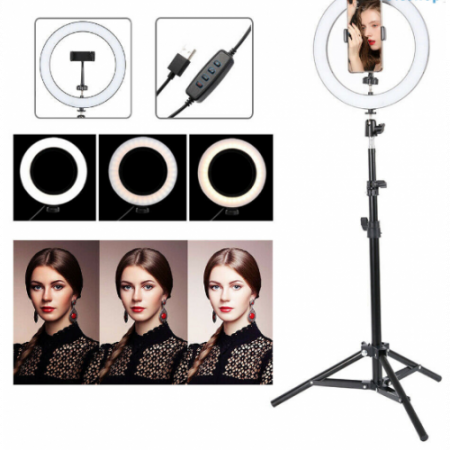 Lampa circulara cu suport selfie, 60W [4]