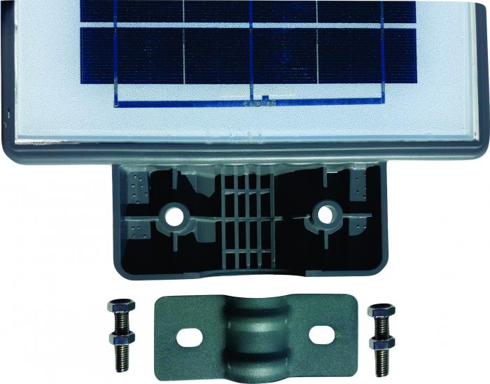 Lampa Solara Stradala de Exterior, Panou Solar Integrat, IP 65 , Senzor de Lumina si Miscare, 40 W, Gri [4]