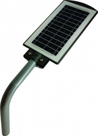 Lampa Solara Stradala de Exterior, Panou Solar Integrat, IP 65 , Senzor de Lumina si Miscare, 40 W, Gri [3]