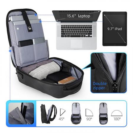 "Rucsac Laptop Antifurt 15.6"" Smart USB MODERNO [5]"